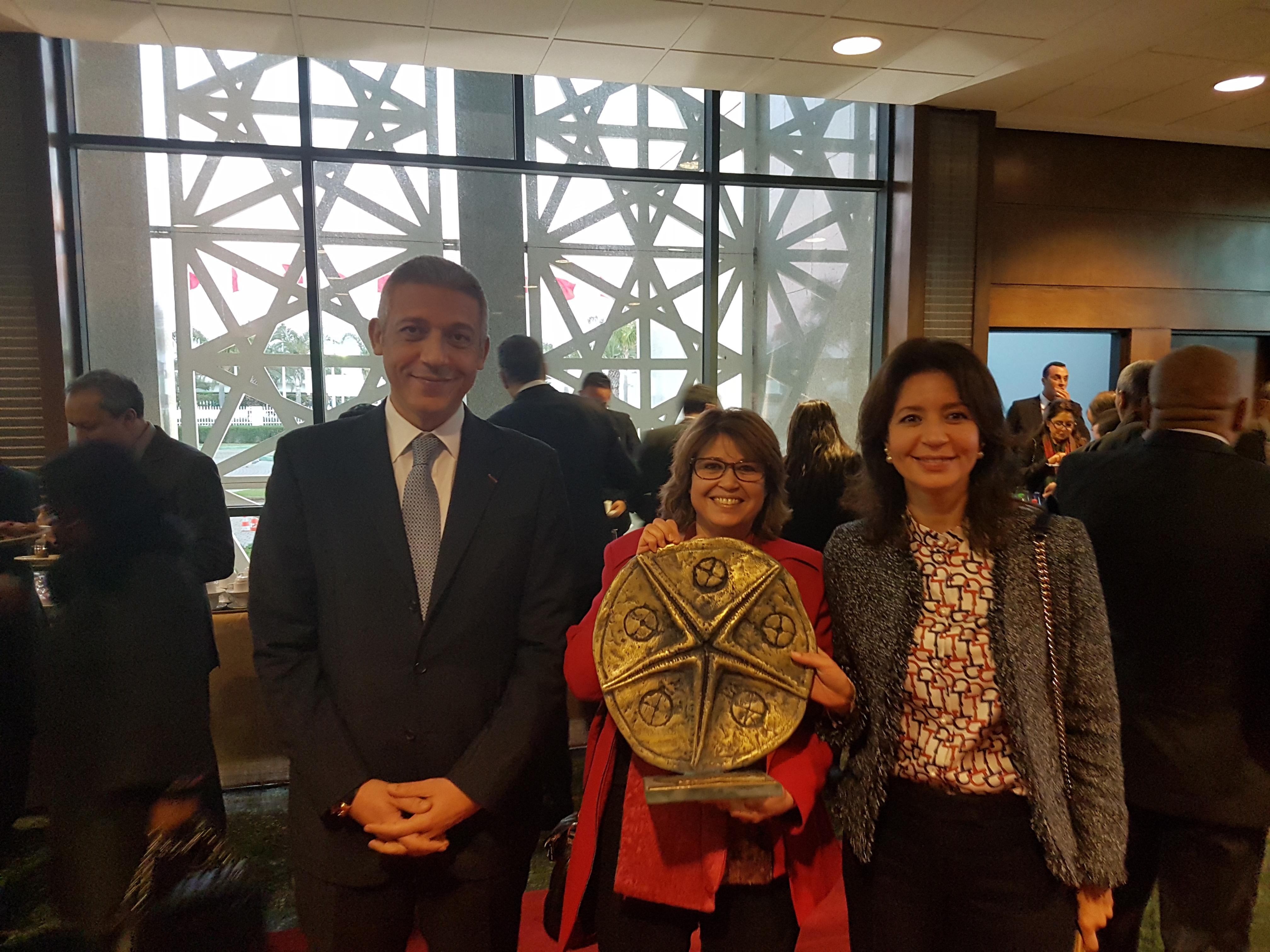 """2017 : Atlanta Assurances reçoit le Trophée Lalla Hasnaa """"Littoral durable"""" pour son projet environnemental de tri sélectif des déchets"""